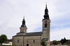 Εκκλησία του Nativity της ευλογημένης Virgin Sremska Kamenica Σερβία στοκ εικόνα