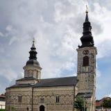 Εκκλησία του Nativity της ευλογημένης Virgin Sremska Kamenica Σερβία στοκ εικόνες