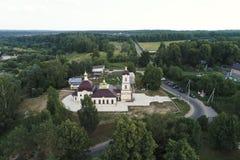 Εκκλησία του Nativity της ευλογημένων Virgin και των περιχώρων, χωριό Nikolskoye, περιοχή Kaluga, της Ρωσίας στοκ φωτογραφίες