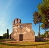 Εκκλησία του SAN Nicola Capo Di Bove στον τρόπο Appian στη Ρώμη Στοκ Εικόνες