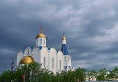 Εκκλησία του Savior στην πόλη του Μούρμανσκ Στοκ Φωτογραφίες