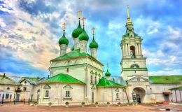 Εκκλησία του Savior στις εμπορικές συναλλαγές arcades σε Kostroma, Ρωσία Στοκ φωτογραφία με δικαίωμα ελεύθερης χρήσης