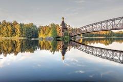 Εκκλησία του ST Andrew πρώτος-που καλούν σε Vuoks θερινό ηλιόλουστο ημερησίως, Vasilyevo, περιοχή του Λένινγκραντ, της Ρωσίας στοκ φωτογραφίες με δικαίωμα ελεύθερης χρήσης