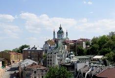 Εκκλησία του ST Andrew ` s στο Κίεβο και κάθοδος του Andrew ` s στο Κίεβο στοκ εικόνες