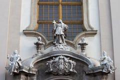 Εκκλησία του ST Anne με αρχιτεκτονικές λεπτομέρειες της Βουδαπέστης Στοκ φωτογραφία με δικαίωμα ελεύθερης χρήσης