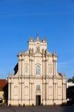 Εκκλησία του ST Anne στη Βαρσοβία Στοκ εικόνα με δικαίωμα ελεύθερης χρήσης