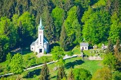 Εκκλησία του ST Anthony της Πάδοβας σε Bedrichov, Δημοκρατία της Τσεχίας Στοκ Φωτογραφίες