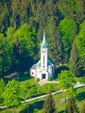 Εκκλησία του ST Anthony της Πάδοβας σε Bedrichov, Δημοκρατία της Τσεχίας Στοκ Εικόνες