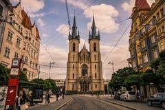 Εκκλησία του ST Anthony της Πάδοβας στην Πράγα, Δημοκρατία της Τσεχίας Στοκ Εικόνες