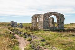 Εκκλησία του ST Dwynwen ` s, νησί Llanddwyn σε Anglesey, βόρεια Ουαλία Στοκ Εικόνες