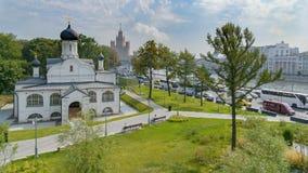 Εκκλησία του ST George, πάρκο Zaryadye, Μόσχα στοκ φωτογραφία