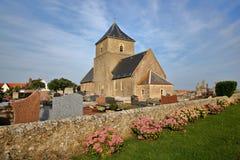 Εκκλησία του ST Jean Baptiste σε Audresselles, υπόστεγο δ ` Opale, Pas-de-Calais, Hauts de Γαλλία Στοκ φωτογραφία με δικαίωμα ελεύθερης χρήσης
