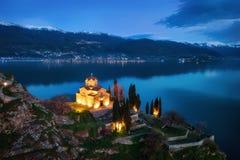 Εκκλησία του ST John ο θεολόγος - σε Kaneo, Οχρίδα, Μακεδονία Στοκ Φωτογραφίες