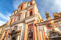 Εκκλησία του ST John Nepomuk σε Kutna Hora, Δημοκρατία της Τσεχίας στοκ εικόνες