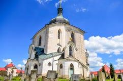 Εκκλησία του ST John Nepomuk σε Zelena Hora, Τσεχία Στοκ Φωτογραφίες