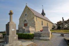 Εκκλησία του ST Martin σε Tardinghen, υπόστεγο δ ` Opale, Pas-de-Calais, Hauts de Γαλλία Στοκ φωτογραφία με δικαίωμα ελεύθερης χρήσης