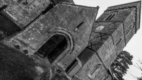 Εκκλησία του ST Peter και του ST Paul ` s - bw πύργων εισόδων Στοκ Φωτογραφία