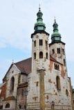 Εκκλησία τούβλου Αγίου Andrew στην Κρακοβία, Πολωνία στοκ εικόνες με δικαίωμα ελεύθερης χρήσης