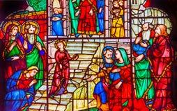 Εκκλησία Φλωρεντία Ιταλία του Ιησού Youth Temple Stained Glass Orsanmichele στοκ φωτογραφία με δικαίωμα ελεύθερης χρήσης