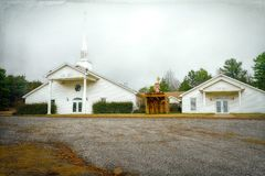 Εκκλησία χώρας στο Lamar, Αρκάνσας Στοκ εικόνα με δικαίωμα ελεύθερης χρήσης