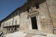 Εκκλησία Madonna delle Grotte σε Antrodoco Rieti, Ιταλία Στοκ Φωτογραφίες