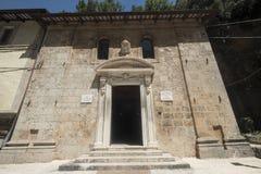 Εκκλησία Madonna delle Grotte σε Antrodoco Rieti, Ιταλία Στοκ φωτογραφία με δικαίωμα ελεύθερης χρήσης