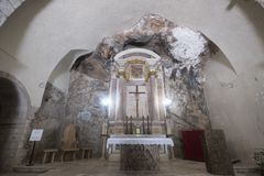 Εκκλησία Madonna delle Grotte σε Antrodoco Rieti, Ιταλία Στοκ εικόνες με δικαίωμα ελεύθερης χρήσης