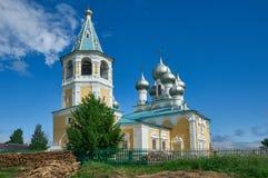 Εκκλησία Matigory της αναζοωγόνησης του δέκατου όγδοου αιώνα Χριστού Στοκ Εικόνα
