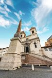 Εκκλησία Monti dei Trinita στο ύφος αναγέννησης - Ρώμη Ιταλία στοκ εικόνα με δικαίωμα ελεύθερης χρήσης