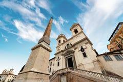 Εκκλησία Monti dei Trinita στο ύφος αναγέννησης - Ρώμη Ιταλία στοκ φωτογραφία με δικαίωμα ελεύθερης χρήσης