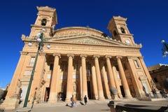 Εκκλησία Mosta, Mosta, στο μεσογειακό νησί της Μάλτας στοκ φωτογραφία