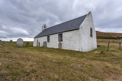 Εκκλησία Mwnt, Ceredigion, Ουαλία στοκ φωτογραφία