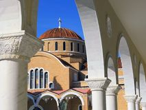 Εκκλησία Paralimni στη Κύπρο Στοκ φωτογραφίες με δικαίωμα ελεύθερης χρήσης