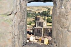 Εκκλησία Peñaranda de Duero, Burgos, Ισπανία Στοκ Φωτογραφίες