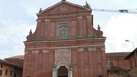 Εκκλησία SAN Bartolomeo σε Cassolnovo, PV, Ιταλία απόθεμα βίντεο