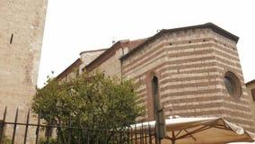 Εκκλησία SAN Francesco (Άγιος Francis) στο Brescia απόθεμα βίντεο