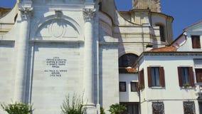 Εκκλησία SAN Geremia στη Βενετία, που περνά από το τουριστικό αξιοθέατο, κομψή αποσύνθεση φιλμ μικρού μήκους