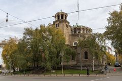 Εκκλησία ST Nedelya στη Sofia, Βουλγαρία καθεδρικών ναών Στοκ εικόνα με δικαίωμα ελεύθερης χρήσης
