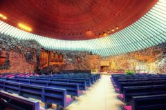 Εκκλησία Temppeliaukion, Ελσίνκι, Φινλανδία στοκ εικόνες