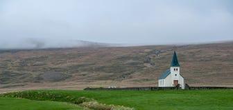 Εκκλησία Tjorn στη χερσόνησο Vatnsnes - Ισλανδία στοκ φωτογραφίες