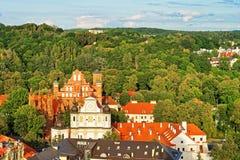 Εκκλησίες του ST Anne και του ST Bernard σε Vilnius Στοκ εικόνα με δικαίωμα ελεύθερης χρήσης