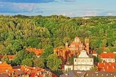 Εκκλησίες του ST Anne και του ST Bernard Vilnius Στοκ Εικόνες