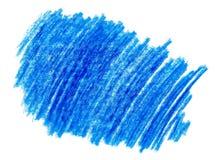 Εκκόλαψη doodle του παιδαριώδους μπλε μολυβιού κεριών στο άσπρο υπόβαθρο Στοκ Φωτογραφίες