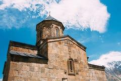 Εκκλησία ή Tsminda Sameba τριάδας Gergeti - ιερή εκκλησία Ν τριάδας Στοκ Εικόνα