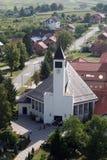Εκκλησία Αγίου Anthony της Πάδοβας σε Lasinja, Κροατία Στοκ Φωτογραφία