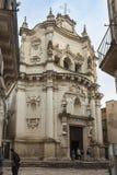 Εκκλησία Αγίου Matthew (17ος αιώνας) σε Lecce, μια ιστορική πόλη Στοκ Εικόνες
