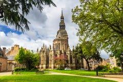Εκκλησία Αγίου Sauveur, Dinan, d'Armor υπόστεγων, Βρετάνη (Βρετάνη), Στοκ φωτογραφία με δικαίωμα ελεύθερης χρήσης