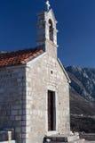 Εκκλησία Αγίου Sava στο νησί Sveti Stefan Στοκ Εικόνες