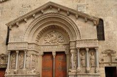 Εκκλησία Αγίου Trophime σε Arles Στοκ Εικόνα