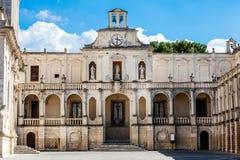Εκκλησία βασιλικών του ιερού σταυρού Lecce, Ιταλία Στοκ Φωτογραφία